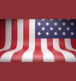 studio backdrop with flag usa vector image