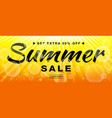 summer sale template banner with sun rays vector image vector image