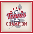 Tennis Badge Template vector image vector image