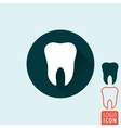 Tooth icon isolated vector image vector image