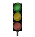 traffic lights background vector image