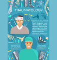 traumatology and trauma surgery medicine banner vector image