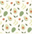 trendy hand drawn seamless pattern with fresh vector image vector image