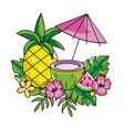 Tropical summer cartoon