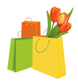 Tulips in the shopping bag