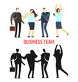 Woman and man business team isolated on white