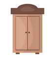 wooden shelf forniture icon vector image vector image