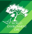 world environment day poster vector image vector image