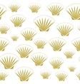 Seamless sea shells vector image