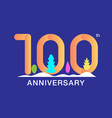 100 years anniversary celebration logotype vector image
