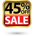 45 off sale golden label with red ribbon