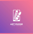 art phone logo vector image vector image
