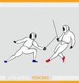 Athlete Fencers vector image vector image