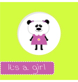 Baby shower card with panda Its a girl vector image vector image