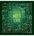 Back to school big doodles set vector image vector image
