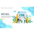 best deal website landing page design vector image