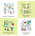 Biotechnology Linear Compositions vector image vector image