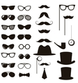Black retro gentleman elements set vector image vector image