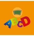 blackboard school icon alphabet vector image vector image
