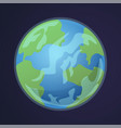 cartoon earth solar system planet view world vector image