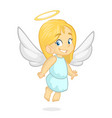 cartoon of christmas angel vector image vector image