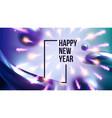 celebrating happy new year invite banner vector image