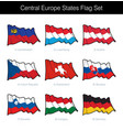 central europe states waving flag set vector image