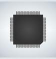 chip processor icon vector image vector image