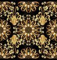 classic golden seamless pattern classic vintage vector image