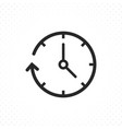clock arrow icon vector image vector image