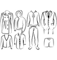 collection mens clothes vector image