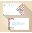 color funky dotted white simple business card vector image vector image