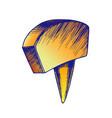 color office stationery thumbtack push pin tool vector image