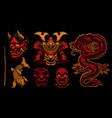 colorful samurai clipart vector image vector image