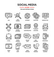 communicationsocial media and online chatting vector image