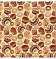 Cute seamless pattern with sweets and dessert vector image vector image