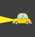 drawing a yellow toy car or color vector image vector image