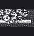 elegant peony flowers decorative element vector image vector image