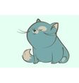 fat blue cat dream vector image vector image