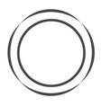 grey circle icon stock vector image vector image