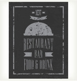 Hand-drawn chalkboard menu vector image