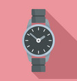 hand watch icon flat style vector image