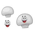 happy edible white champignon mushroom vector image