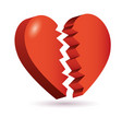 heart broken isometric 3d icon vector image vector image