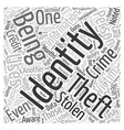 history of identity theft Word Cloud Concept vector image vector image