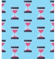 Hourglass Sandglass Icon Seamless Pattern vector image
