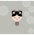 japanese spa or japanese food logo vector image vector image