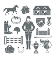 Jockey Icons Black vector image vector image