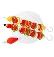 kebab vector image