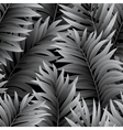 leaves palm tree seamless pattern vector image vector image